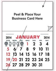 Add Your Card Decal Calendar Pads