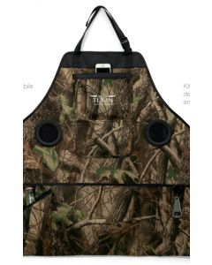Forest Camo Grill & Groove Apron with Speakers