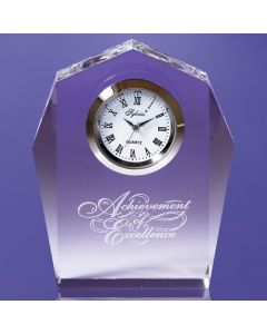 Norwood Angular Award with Imbedded Clock