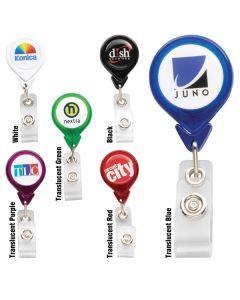 PhotoVision Teardrop Badge Holder w/ Slide Clip