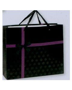 Elegant Black & Purple Gift Bag w/Bow / Product Packaging Option