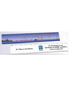 "Offset Full Color HD Resolution 12"" Ruler (2""x12 1/4""/ 0.02"" Thick)"