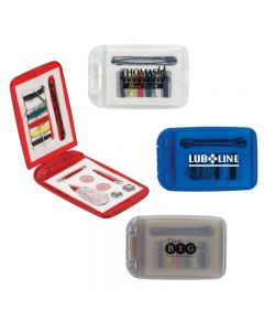 Translucent Colored Plastic Sewing Kit