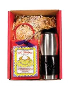 Leather Wrapped Tumbler & Hot Cocoa Gift Set