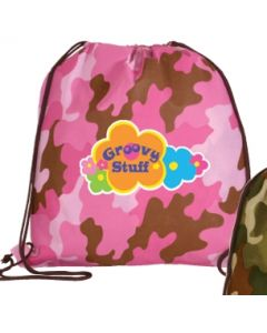 Non Woven Camo Drawstring Backpack (Full Color Digital)
