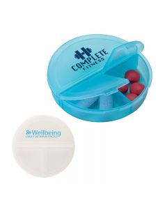 3 Compartment Pill Holder w/ Snap Lids