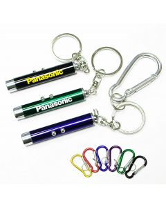 Dual Laser Pointer/ Super Bright LED Light with Keychain and Carabiner