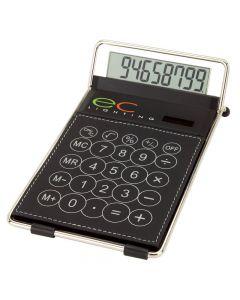 Leatherette & Chrome Desktop Calculator