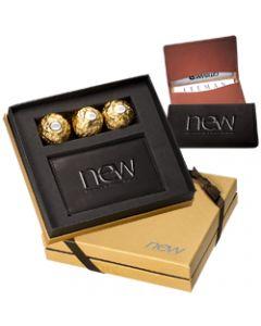 Ferrero Rocher Chocolates Leeman Alpine Sueded Full-Grain Leather Card Case