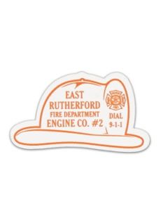 Fire Helmet Stock Shape Vinyl Magnet (Spot Color)