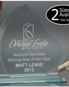 Small Sanzio Jade Glass Award