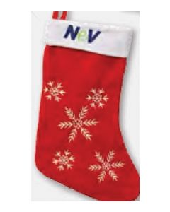 Flake Christmas Stocking (Decorated in USA 3-5 Day Delivery)