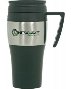 14 Oz. Stainless Steel Plastic Travel Mug