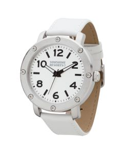 Watch Creations Unisex Watch w/ White Leather Strap