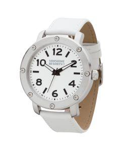 Watch Creations Unisex Watch w/ White Leather Strap