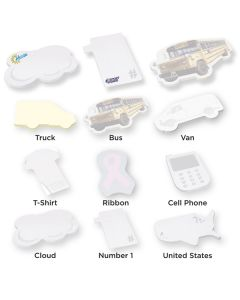 "Die Cut United States Adhesive Notepad w/ 25 Sheets (4""x6"")"