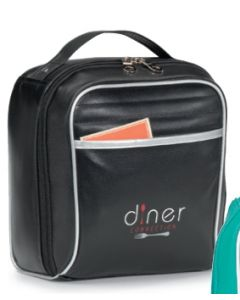Black Retro Lunch Cooler