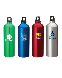 33.8 Oz. Aluminum Flask Water Bottle w/ Twist Top