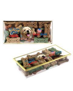 Gold Rim Box w/ Dog Bones
