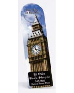 "Full Color Arch Vinyl Plastic Bookmark w/ Slit (0.02"" Thick)"