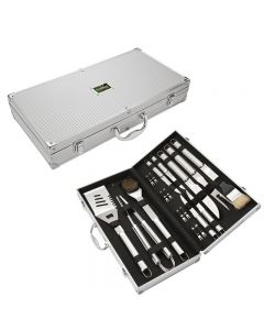 Executive 18 Piece Stainless Steel BBQ Set
