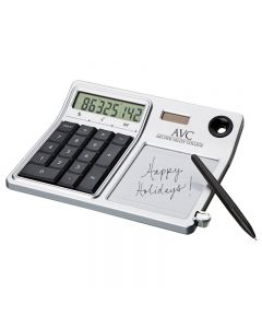 Erasable Memo Pad & Desktop Solar Calculator