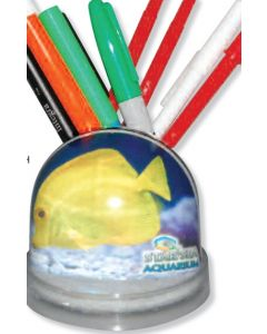 Full Color Snow Globe Pencil Caddy