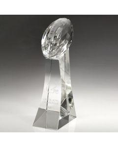 "Girard Faceted Crystal Football Award (6"")"