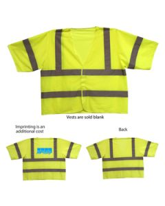 ANSI 3 Yellow Safety Vest (Direct Import-10 Weeks Ocean)