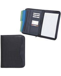 "Zippered Notepad Portfolio (10.25""x13.75""x1.5"") (Blank)"