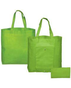 "Folding Non-Woven Tote Bag (16""x14""x3.5) (Blank)"
