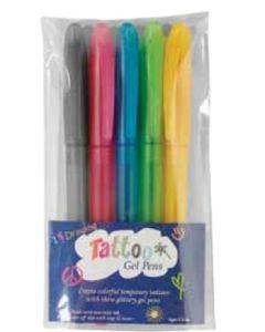 5 Pack Tattoo Gel Pens (Full Color Digital)