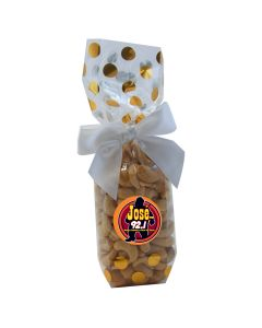 Gold Dots Mug Stuffer Gift Bag with Cashews