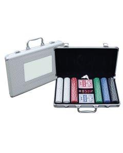 Poker Set w/ Silver Plastic Case (Blank)