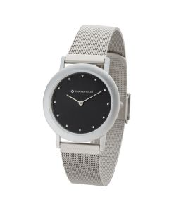 Watch Creations Men's Watch w/ Black Dial & Mesh Bracelet