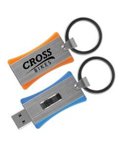 "iSlide Drive iX Sliding Flash Drive w/ Large Key Ring - 3 3/8"" (16 GB)"