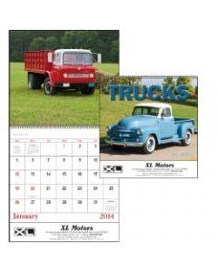 Treasured Trucks Spiral Bound 13 Month Calendar
