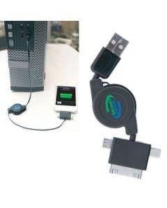 3 in 1 Retractable USB Charger (Direct Import - 10 Weeks Ocean)