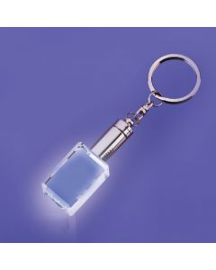 Mansfield Block Shaped Keychain with White LED