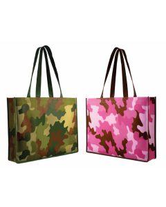 Non Woven Camo Tote Bag (Blank)