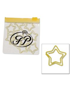 Star Paper Clips in Clear Pouch w/ Color Trim