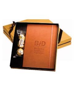Leeman Ferrero Rocher Chocolates & Tuscany Writing Journal Gift Set