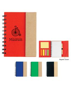 Small Spiral Notebook w/ Sticky Notes & Flags