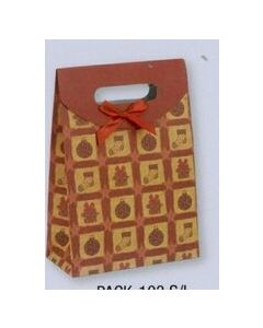 Gift Sack w/ Fold Over Flap & Bow/ Product Packaging Option