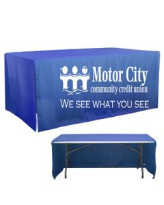 6' 3-Sided Open Corner Table Cover (Screen Print)