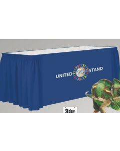 Flame Retardant Poly 15' Box Pleat Table Skirt