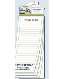 "Magna-Pad 50 Sheet Note Pad w/ House Shape Magnet (3.5""x10.5"")"