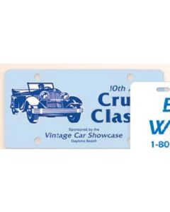 "Auto Card 0.055"" Plastic License Plate (6""x12"")"