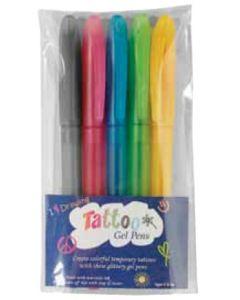 5 Pack Tattoo Gel Pens (Spot Color)