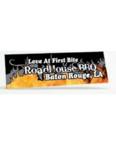"Offset Full Color Vinyl Zip Strip Bumper Sticker (3""x9"")"